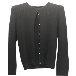 Chanel black cardigan