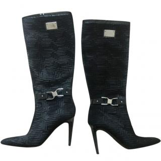 Versace Couture Black Boots