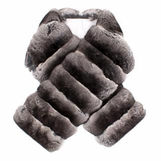 Prada Chinchilla Fur Scarf Neck Wrap