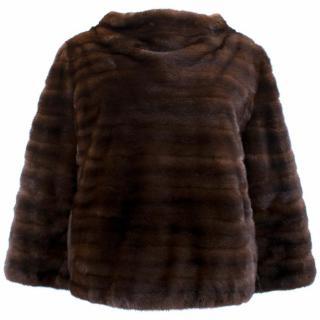 J. Mendel Paris Brown Mink Pullover