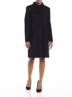 Miu Miu Macrame Embroidery Loden coat