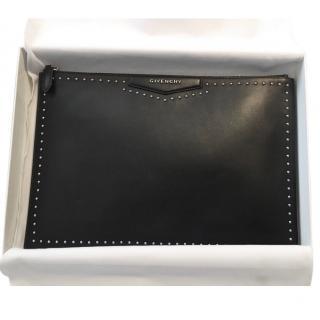 Givenchy Black Studded Antigona Zip Clutch Bag