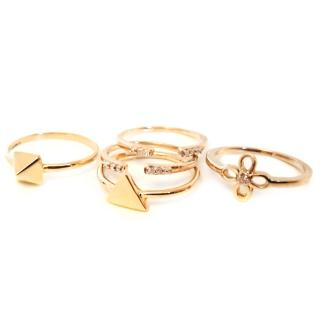 Five 9ct Gold stack ring.