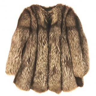 Fox fur coat