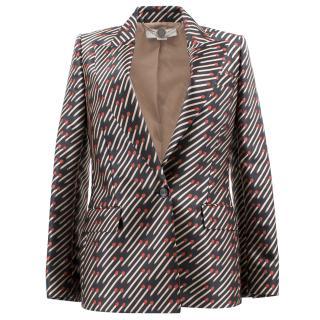 Stella McCartney Matchstick print blazer