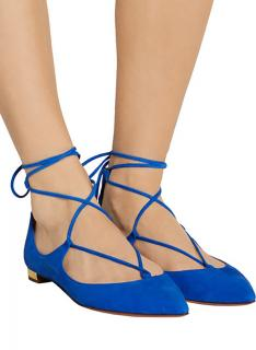 Aquazzura Blue Suede Christy