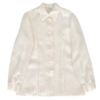 Gianfranco Ferre white silk blouse