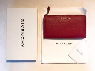 GIVENCHY Pandora wallet purse in red grained leather