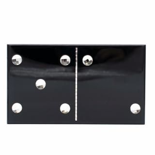 Charlotte Olympia Black Dice Crystal Embellished Clutch