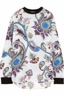 MARY KATRANTZOU paisley print silk top