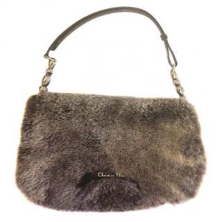 CHRISTIAN DIOR Limited Edition Rabbit Fur Maris Pearl Saddle