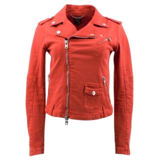 Alexander Mcq Red Biker Jacket