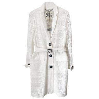 Burberry London Rookwood Crocheted Lace Trenchcoat