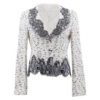 Escada Black and White Embellished Jacket