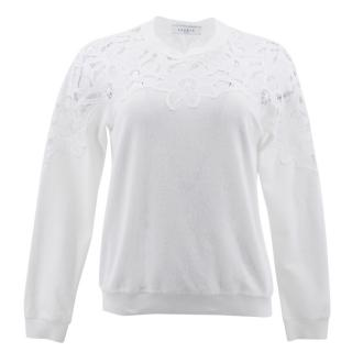 Sandro White Lace Jumper