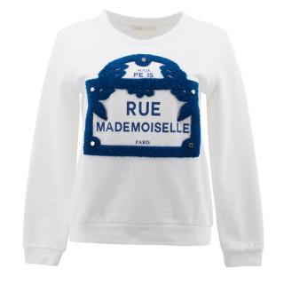 Maje White Pattern Jumper