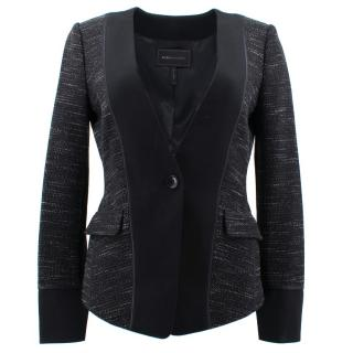 BCBG Max Azria Black Pattern Jacket