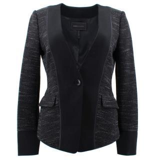 BCBG Max Azria Black Pattern Jacket