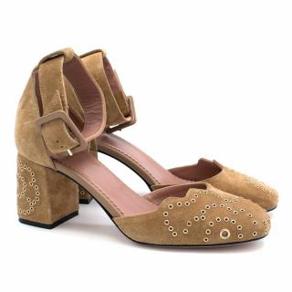 Red Valentino Tan Suede Pumps