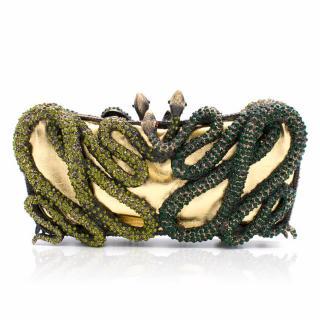 Butler & Wilson Crystal Snake Clutch