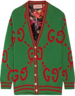 Gucci Ghost Reversible Wool Cardigan