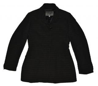 Versace black wool three button blazer