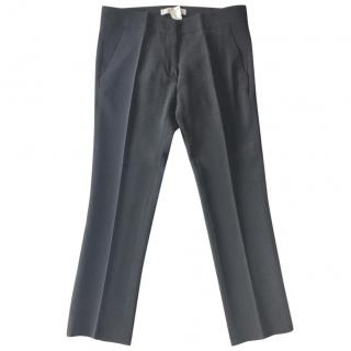 VANESSA BRUNO black crepe cropped trousers