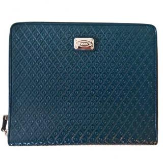 Tod's Teal Green Leather IPad Case