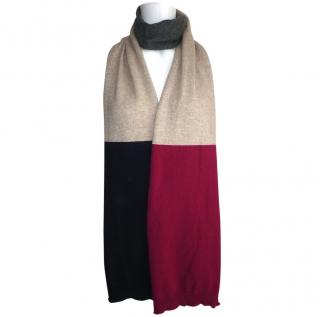 Chinti and Parker 100% Cashmere Colour Block Long Scarf