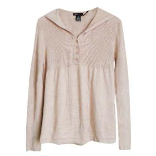 BCBG max azria nude knit jumper with hoodie