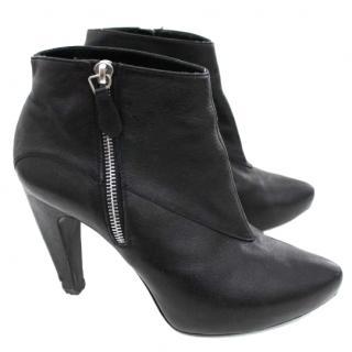 Balenciaga slash heel ankle boots