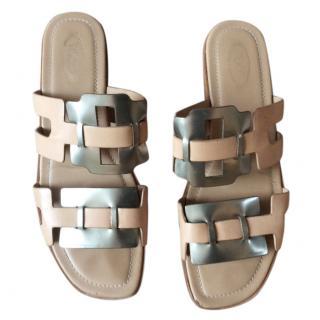 Tods nude/metallic sandals