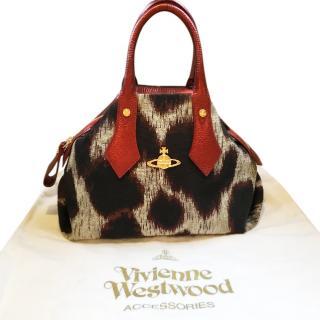 Vivienne Westwood Leopard Print Yasmin Tote