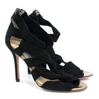 Jimmy Choo Black Strappy Heels