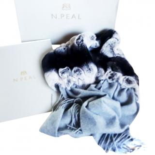 N.Peal cashmere and fur scarf