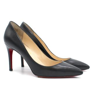 Christian Louboutin Black Pigalle Pumps In Calf Leather