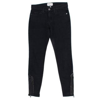Current/Elliott Black Jeans with Studs