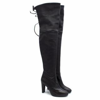 Stuart Weitzman Highland Black Leather Long Boots