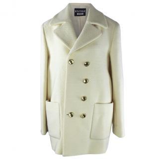 Moschino Cream Virgin Wool Coat