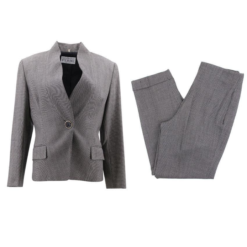 Gianfranco Ferre Birdseye Wool Suit