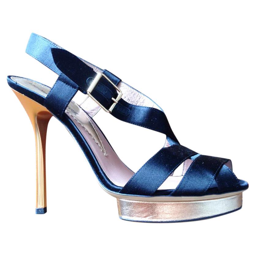 Emporio Armani Satin Sandals