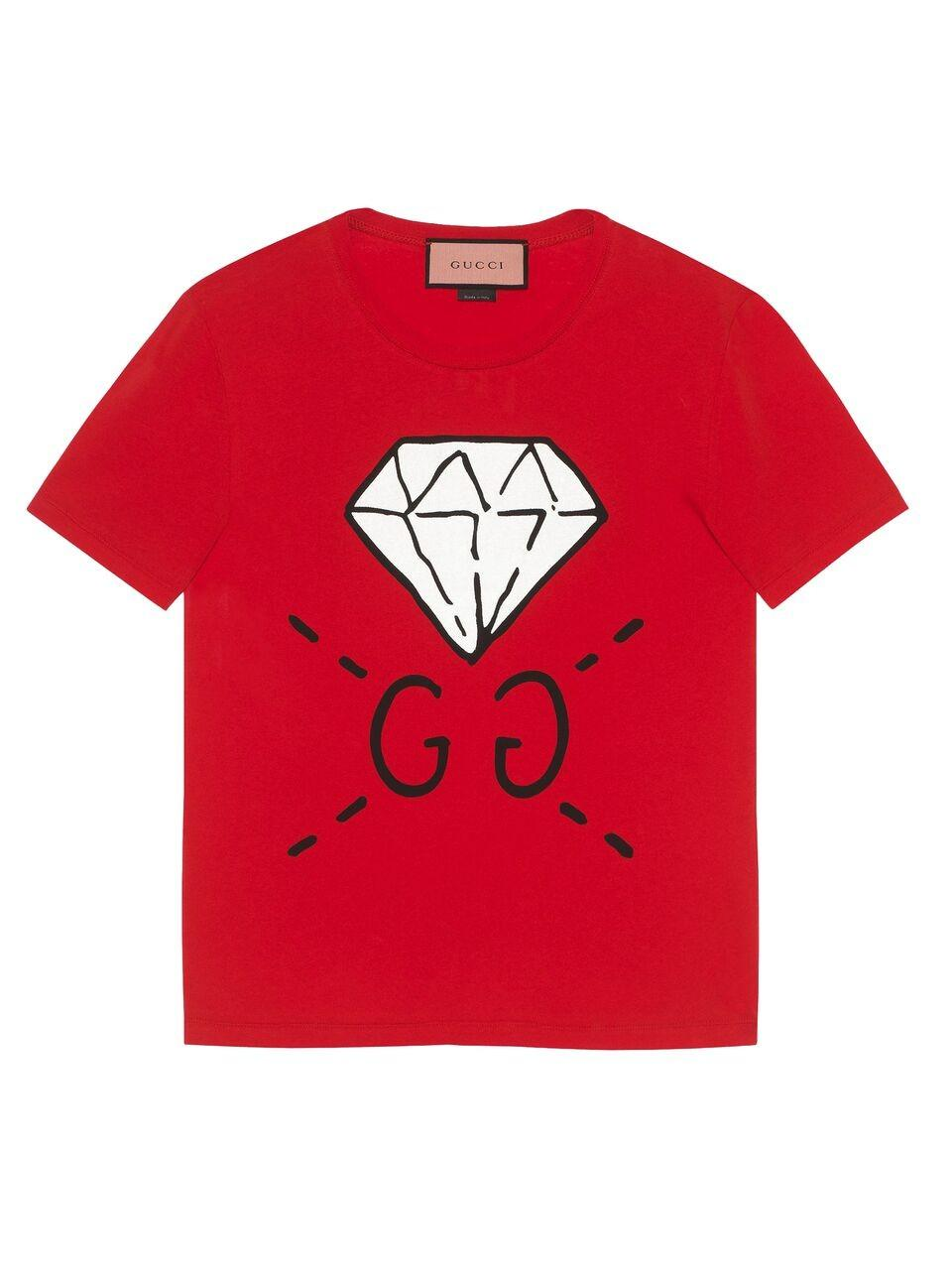 223107f79 Gucci Gg Gucci Ghost Diamond T Shirt | HEWI London