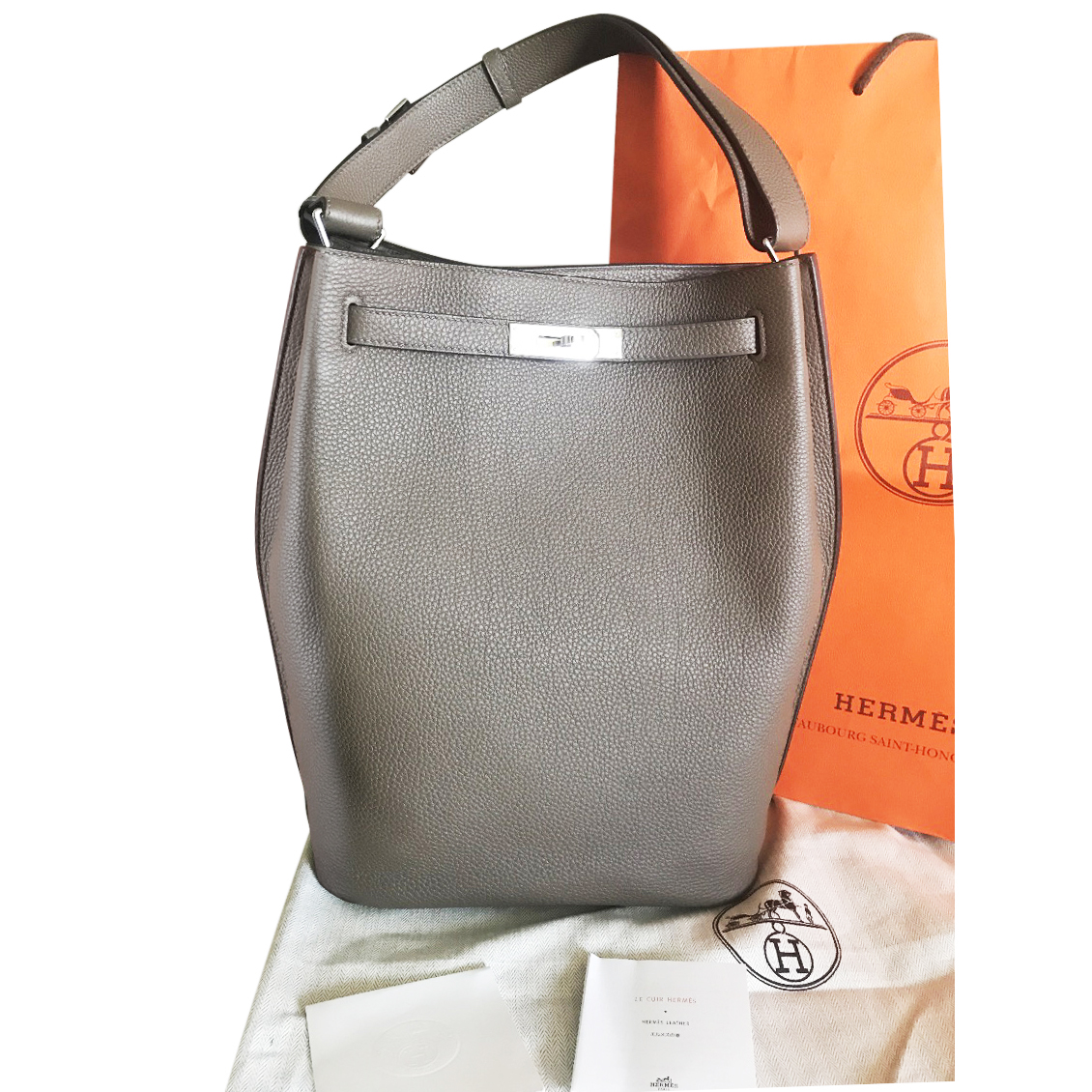 bfc0324df169 So Kelly 26 Taupe With Palladium Hardware Hermes Munich
