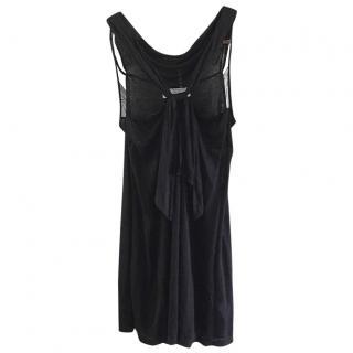 Vanessa Bruno black lace detail dress