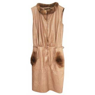 Loro piana lambskin MINK fur dress