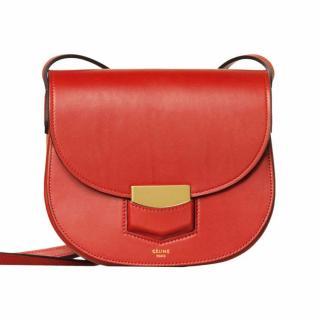 Celine Trotteur Leather Shoulder Bag