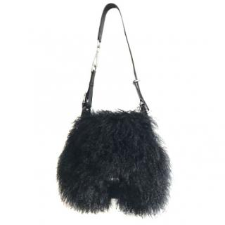 Alexander McQueen mongolian hair messenger bag