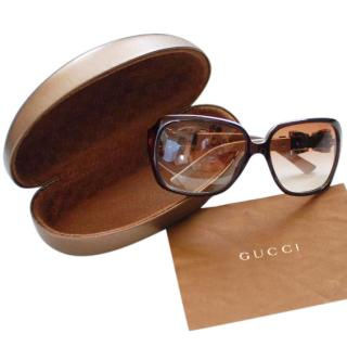 Gucci Brown Bow Shades