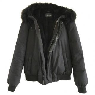 Yves Salomon Black Fur Lined Jacket