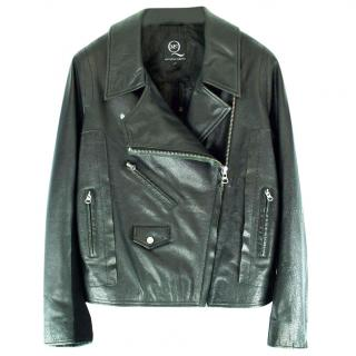 McQ Alexander McQueen Mens Black Leather Jacket